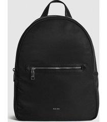 reiss ethan - nylon backpack in black, mens