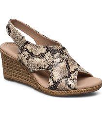 lafley alaine sandalette med klack espadrilles beige clarks