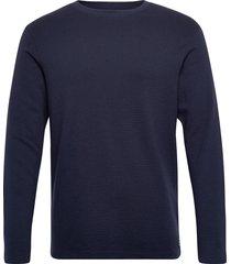 jjephilly tee ls crew neck t-shirts long-sleeved blå jack & j s