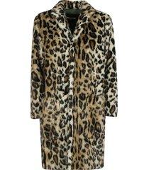 dsquared2 all-over fur applique coat