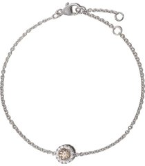 de beers 18kt white gold de beers aura fancy coloured diamond bracelet