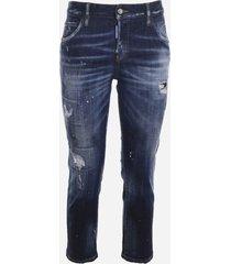 dsquared2 destroyed-effect stretch denim jeans