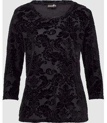 blommönstrad topp dress in svart
