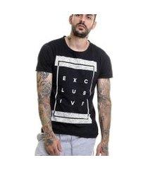 camiseta exclusive slim fit m/c offert masculina