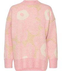 onnekas unikko knitted pullover gebreide trui roze marimekko