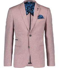 blazer linnen look rood a fish named fred