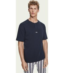 scotch & soda 100% cotton short sleeve grandad t-shirt