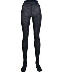 stine goya metallic animal print tights - blue