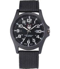 xinew casual orologio da polso in cinturino in nylon analogico con quadrante rotondo orologio da uomo con quadrante rotondo