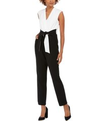 jessica howard colorblocked jumpsuit