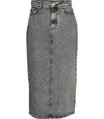 enspruce skirt 6693 knälång kjol grå envii