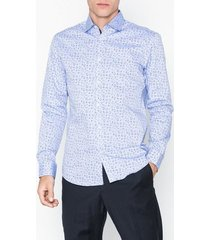 selected homme slhslimnew-mark shirt ls b noos skjortor light blue