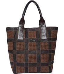bolsa couro griffazzi shopping bag feminina - feminino