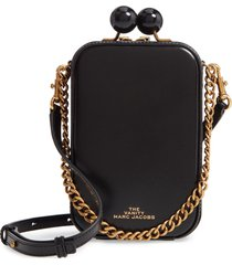 the marc jacobs the vanity leather crossbody bag - black