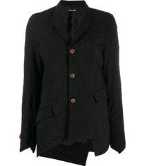 comme des garçons comme des garçons asymmetric paneled blazer - black