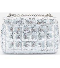 michael michael kors women's soho small chain shoulder bag - silver