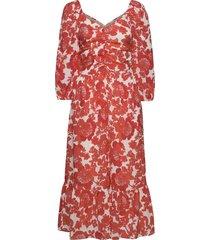 coralie print knälång klänning röd hofmann copenhagen