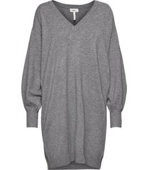 objlisette l/s knit dress 113 kort klänning grå object