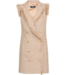 elisabetta franchi tweed double breasted dress