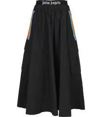 palm angels rainbow cargo skirt