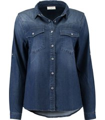 blouse fia denim blauw