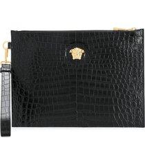versace medusa head pouch - black