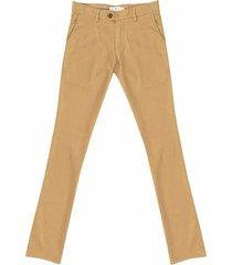 pantalón casual 340 unicolor algodón slim fit para hombre 02264