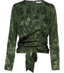 ono blouse 11333 blouse lange mouwen groen samsøe & samsøe