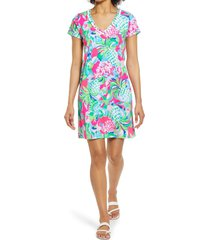 women's lilly pulitzer etta floral swing dress, size x-large - pink