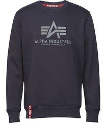 basic sweater sweat-shirt tröja blå alpha industries