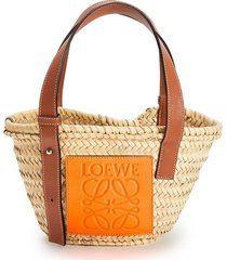 paulas ibiza small palm leaf basket bag