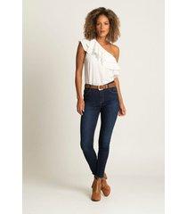 jeans slim denim para mujer básico