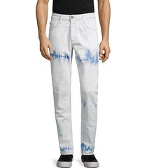 slim-fit tie-dyed jeans