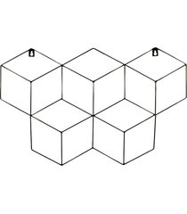 memory board cubo quadro de fotos preto - 45cm x 63cm + 3 mini prendedores l3 store
