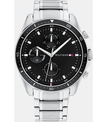 tommy hilfiger men's stainless steel bracelet watch wi sub-dials silver -