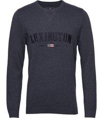 nelson knitted sweatshirt sweat-shirt trui blauw lexington clothing