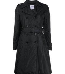 aspesi padded trench coat - black