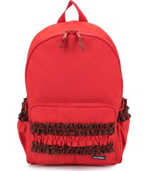 familiar ruched detail backpack - red