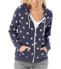 alternative apparel adrian printed eco-fleece women's zip hoodie
