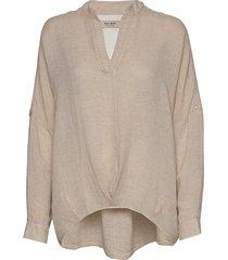 hessa stelo blouse blouse lange mouwen crème mos mosh