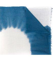 suzusan hand woven cashmere shawl - blue