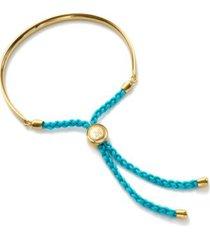 fiji friendship petite bracelet, gold vermeil on silver