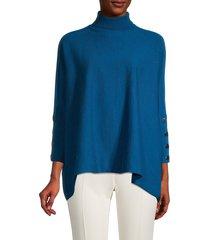 anne klein women's turtleneck button-cuff sweater - avalon - size xxs/xs