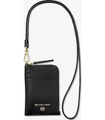 mk custodia jet set piccola in pelle per documento - nero (nero) - michael kors