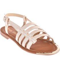 priceshoes sandalia plana dama 302389perla