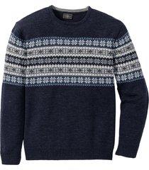 pullover in stile norvegese regular fit (blu) - bpc selection