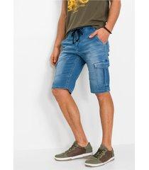 stretch jeans bermuda, regular fit