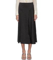 asymmetric seam tassel skirt