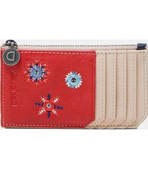 coin purse card holder mandalas - red - u
