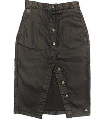 rok lois jupe noir boutons falda denim 999